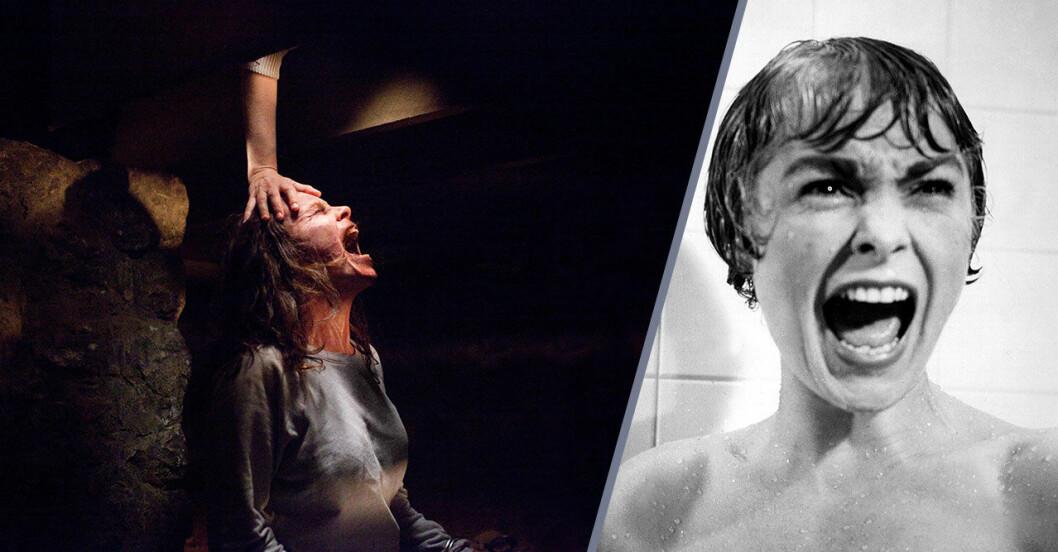 Bilder från filmerna The Conjuring och Psycho