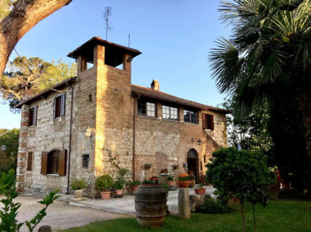 Italienska villan utifrån