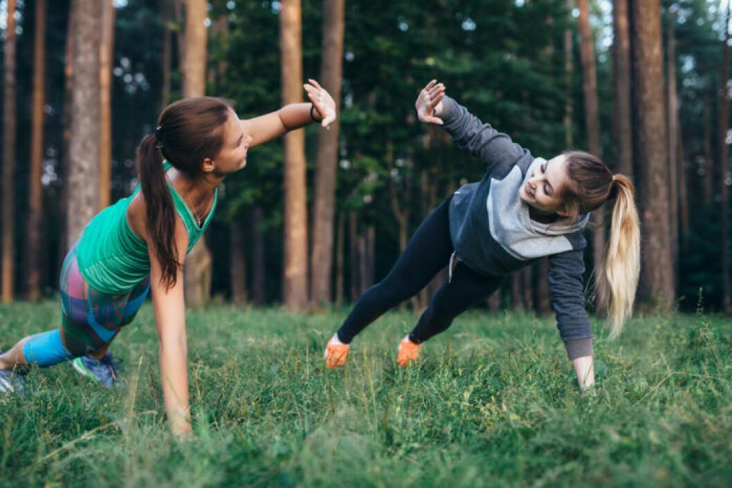 Om man tränar i par får man lite draghjälp.