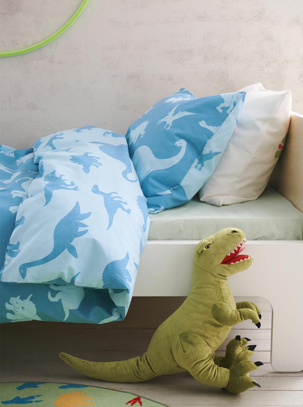 Påslakan med dinosaurier från Ikea