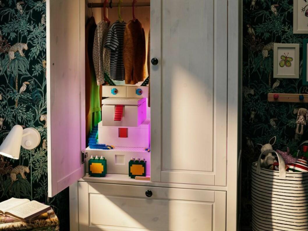 Ikea Lego samarbete bygglek klossar barnrum garderob
