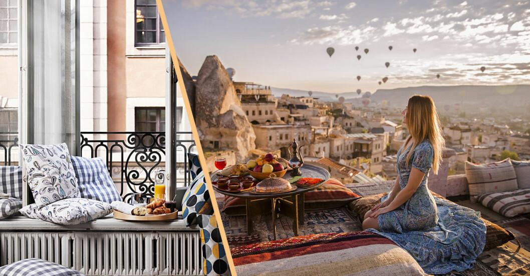 Cappadocia och fransk balkong