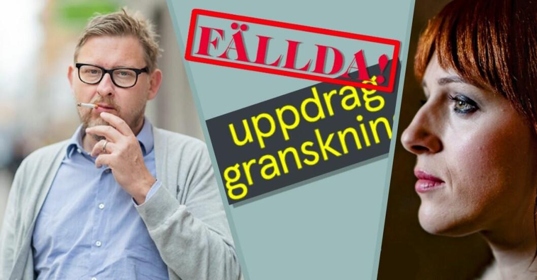 Uppdrag gransknings program om Fredrik Virtanen och Cissi Wallin fälls i Granskningsnämnden-