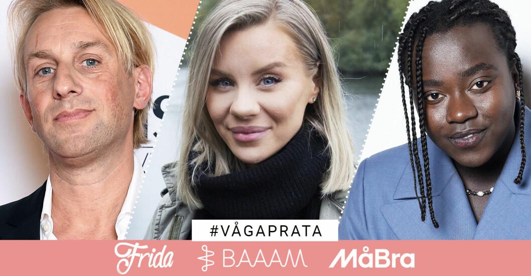 Baaam Frida MåBra Våga prata kampanj psykisk ohälsa Anders Hansen Therese Lindgren Tusse