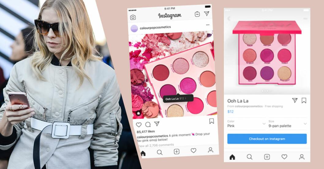 Instagram lanserar shoppingfunktion