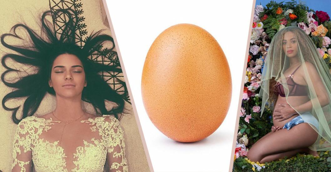 Kendalls Jennes hjärthår, ägget och Beyoncé gravid