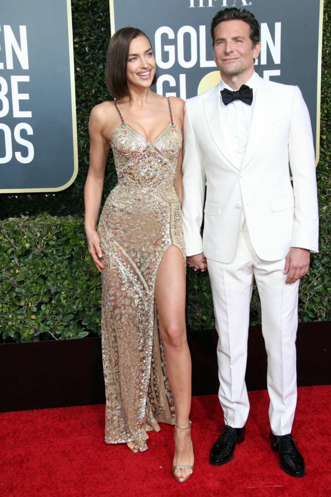 Irina Shayk och Bradley Cooper Golden Globe 2019
