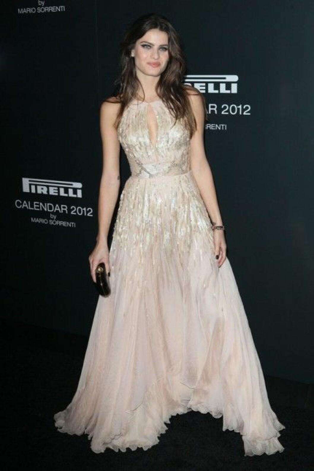 Isasbeli Fontana på The 2012 Pirelli Calendar gala dinner.