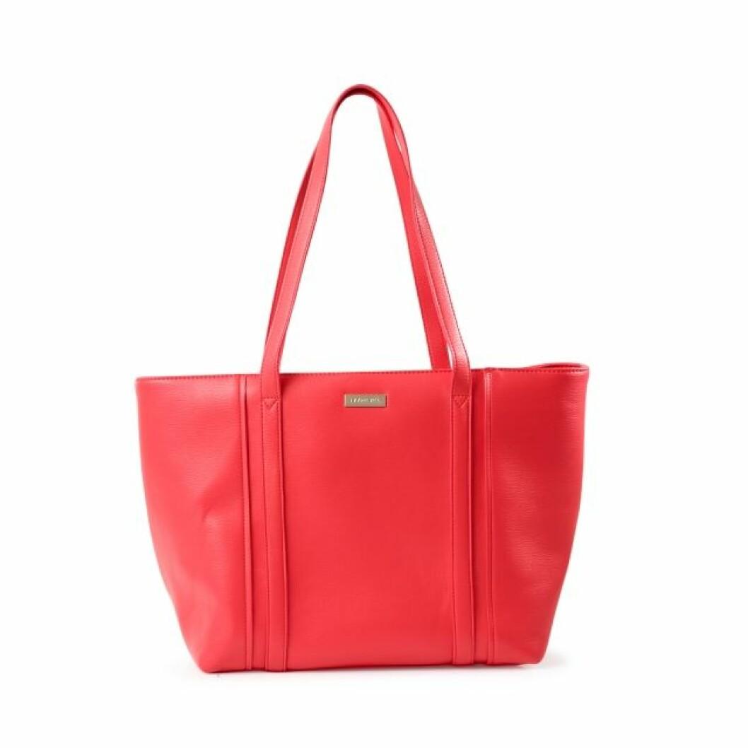 Röd shoppingbag