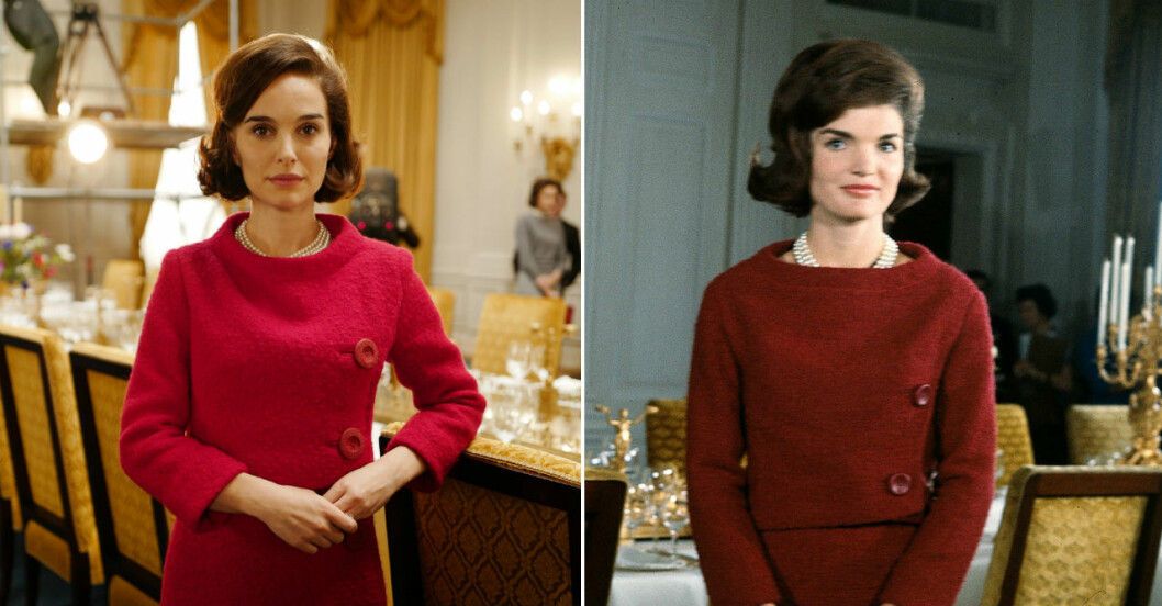 Natalie Portman som Jackie Kennedy.
