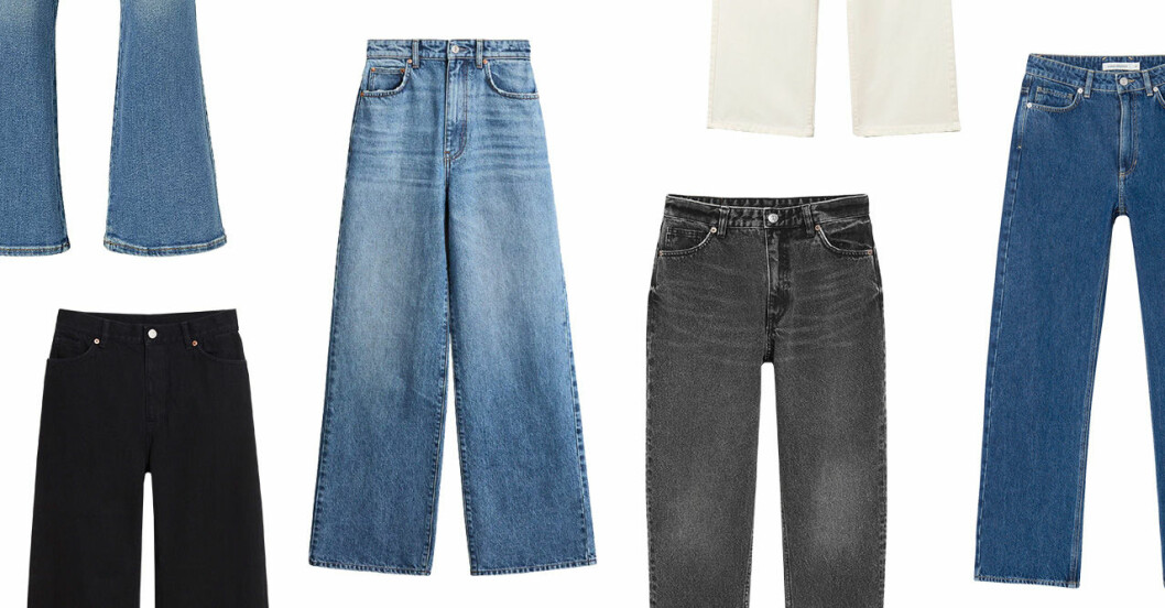 Jeans i olika modeller och prisklasser för dam till våren 2020
