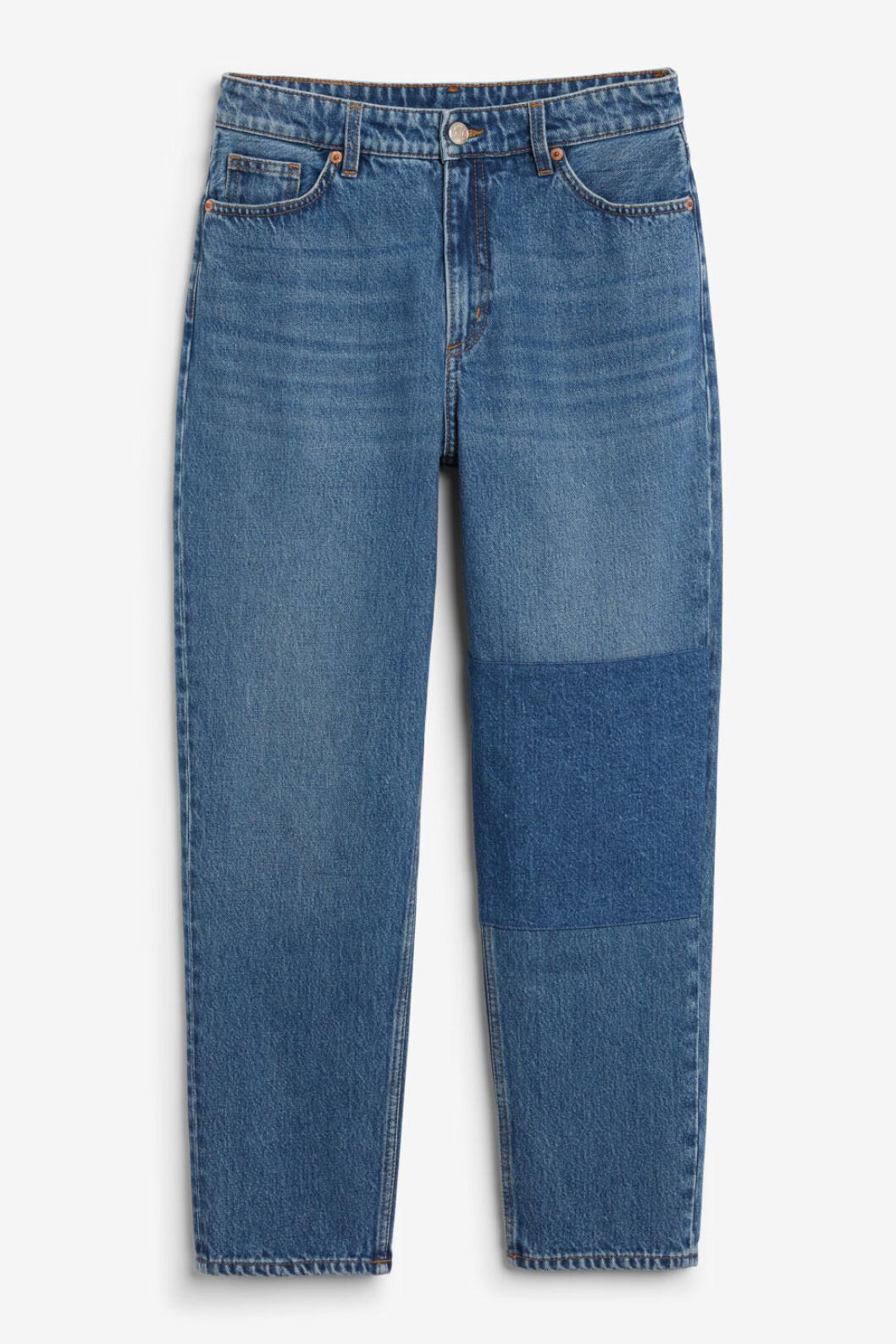Blå jeans med hög midja