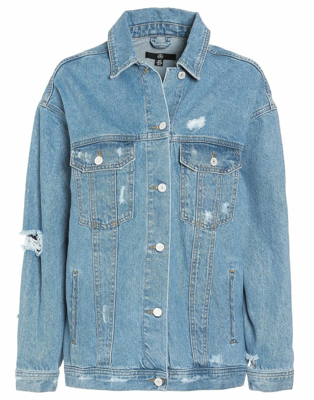 Blå jeansjacka i oversize-modell för dam till 2019