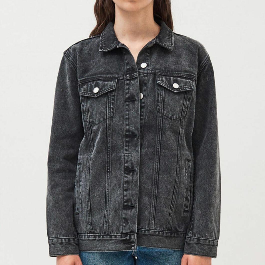 stenfärgad jeansjacka