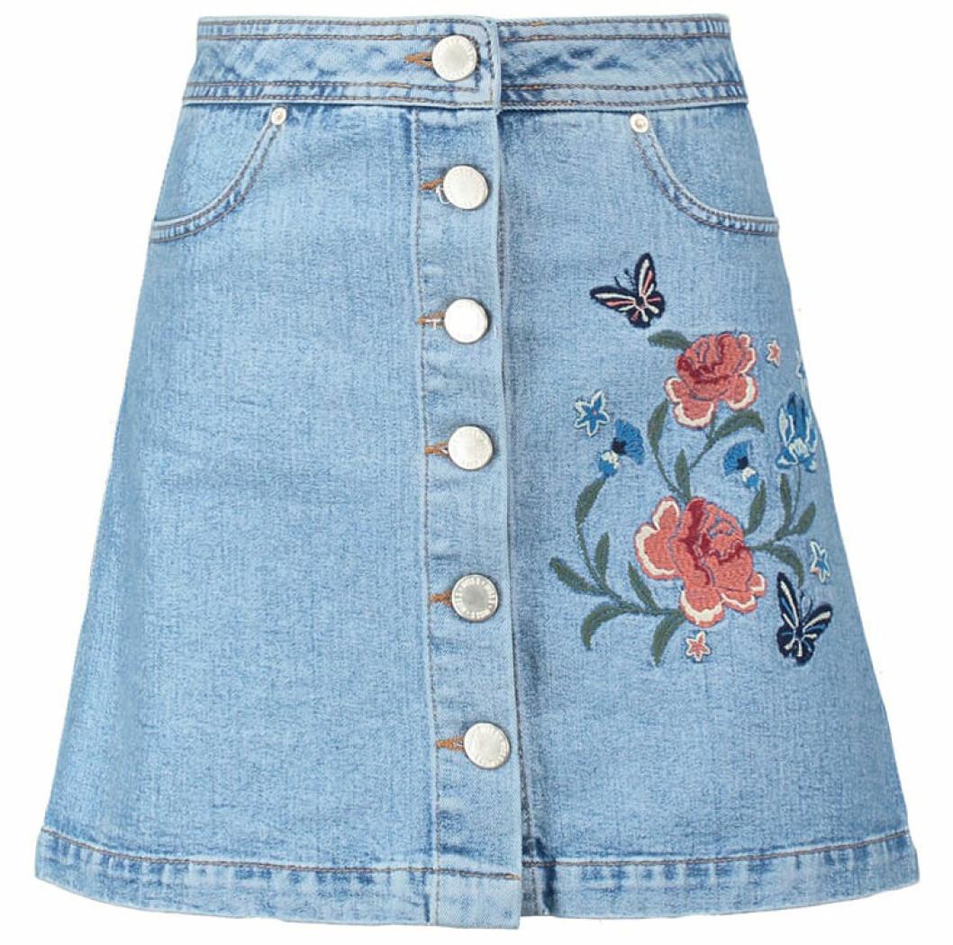 jeanskjol blomma