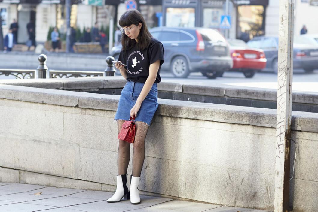 jeanskjol outfit