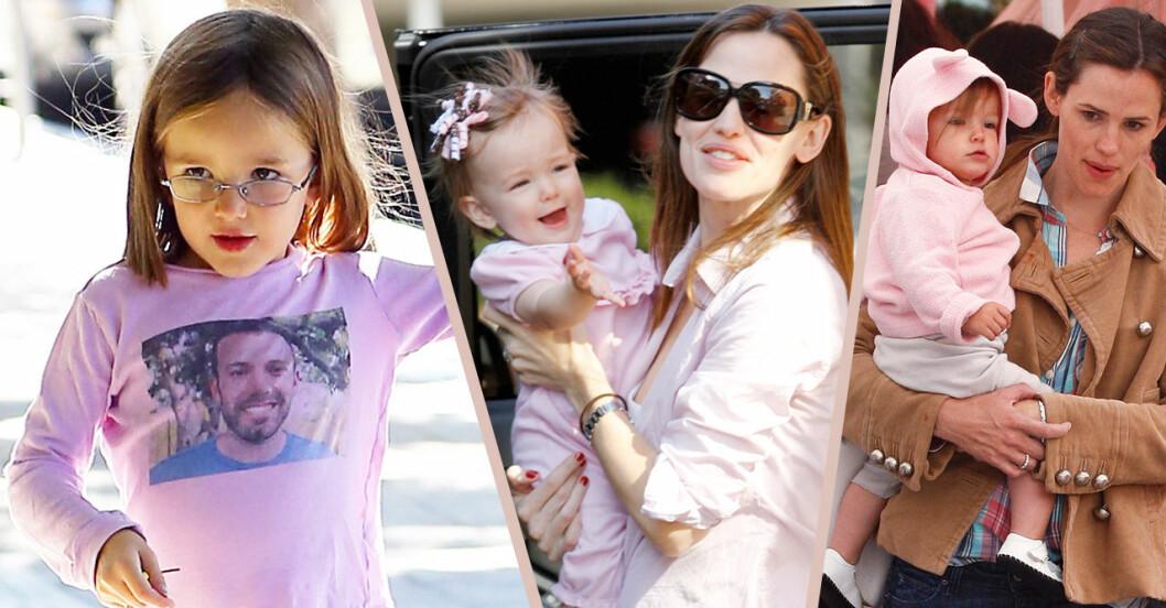 Jennifer Garner och dottern Violet på stan när Violet var en liten, liten tjej!