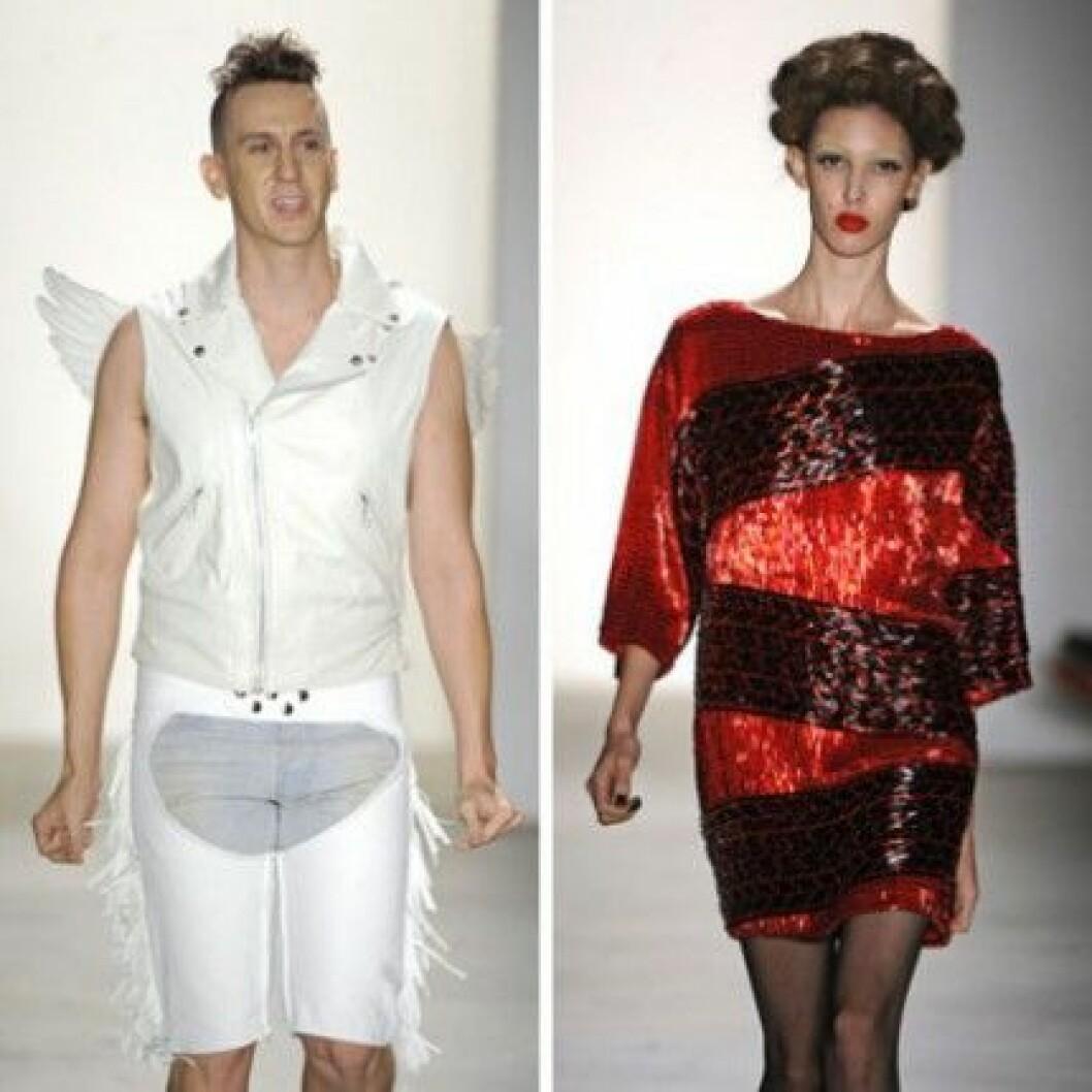Jeremy Scott till vänster och en av hans kreationer från S/S 2011 till höger.