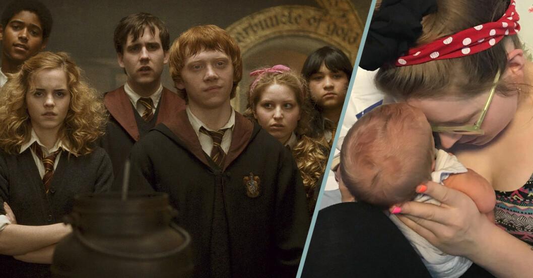 Harry Potter-skådisen Jessie Caves 3 månader-bebis vårdas för covid-19