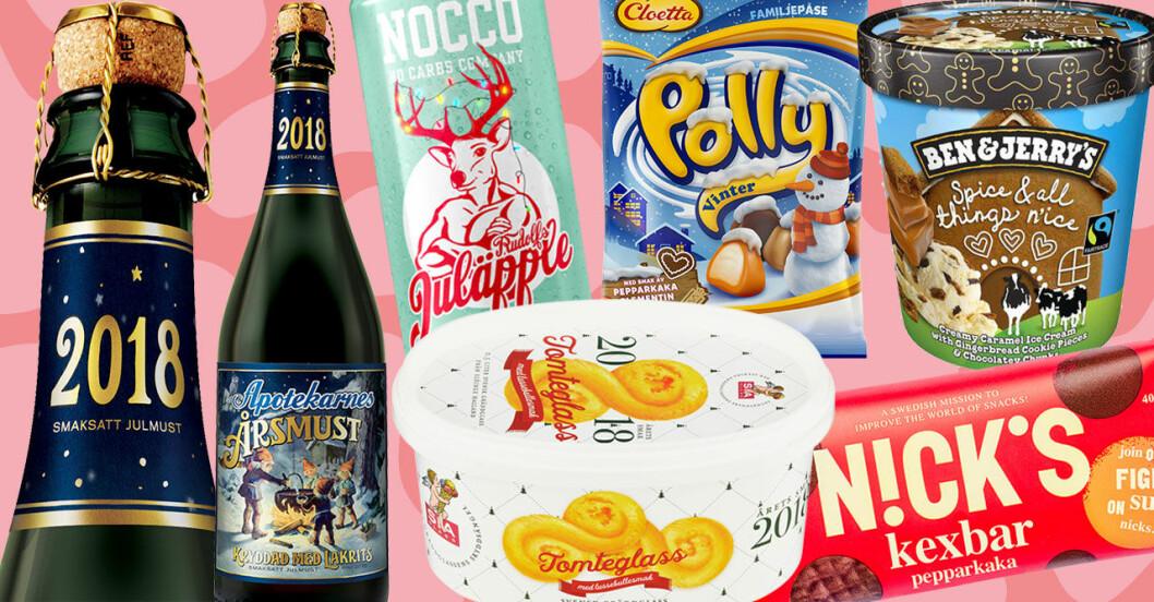 Årets nya smaker inför julen 2018