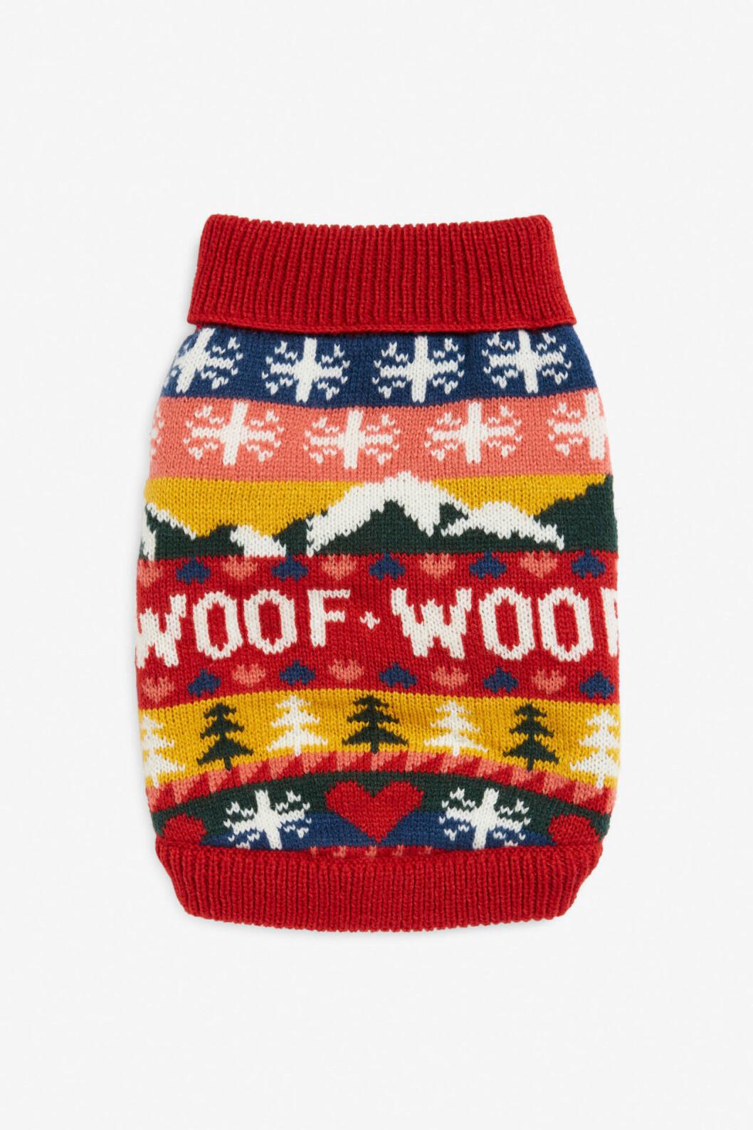 Stickad jultröja för hunden från Monki