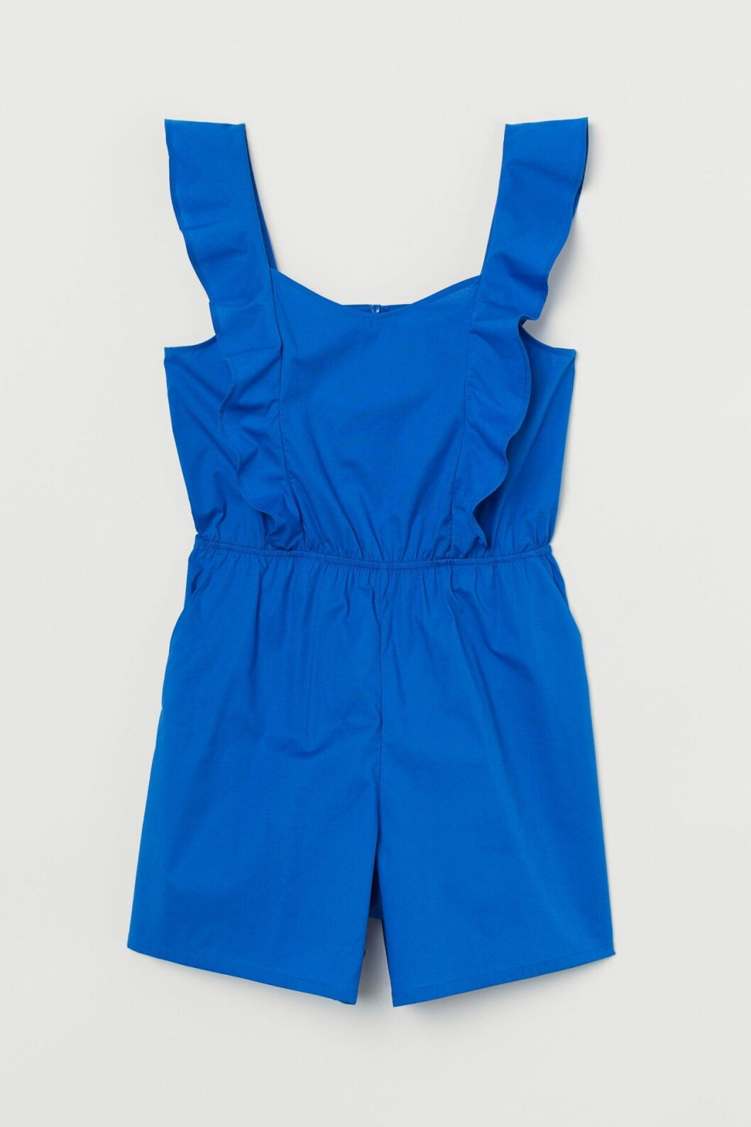 Blå jumpsuit med volanger för dam till 2020