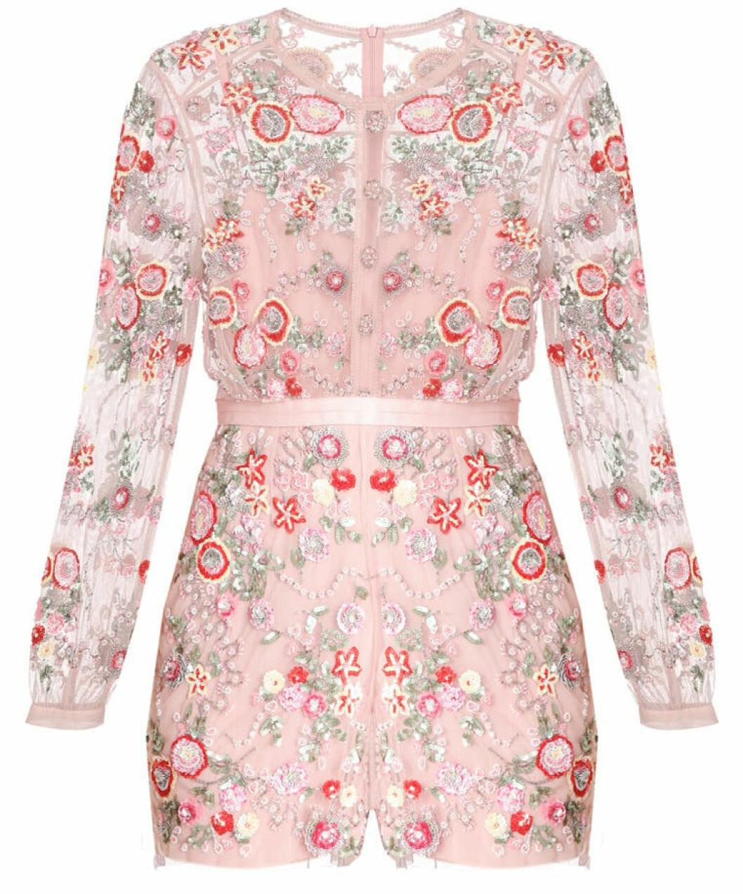 jumpsuit rosa blommig