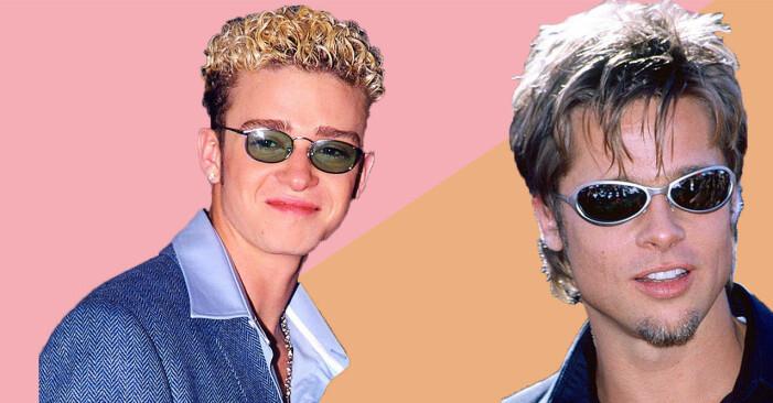 Justin Timberlake och Brad Pitt i snabba solglasögon från 90-talet.