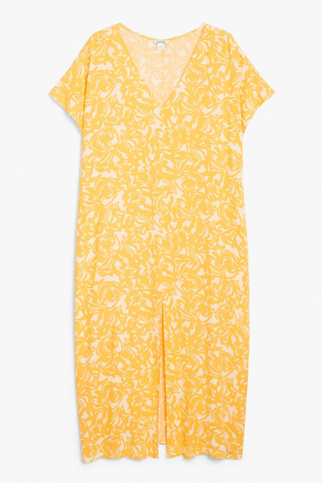 Gul strandklänning för dam till 2020