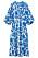 blåvit mönstrad kaftanklänning från H&M