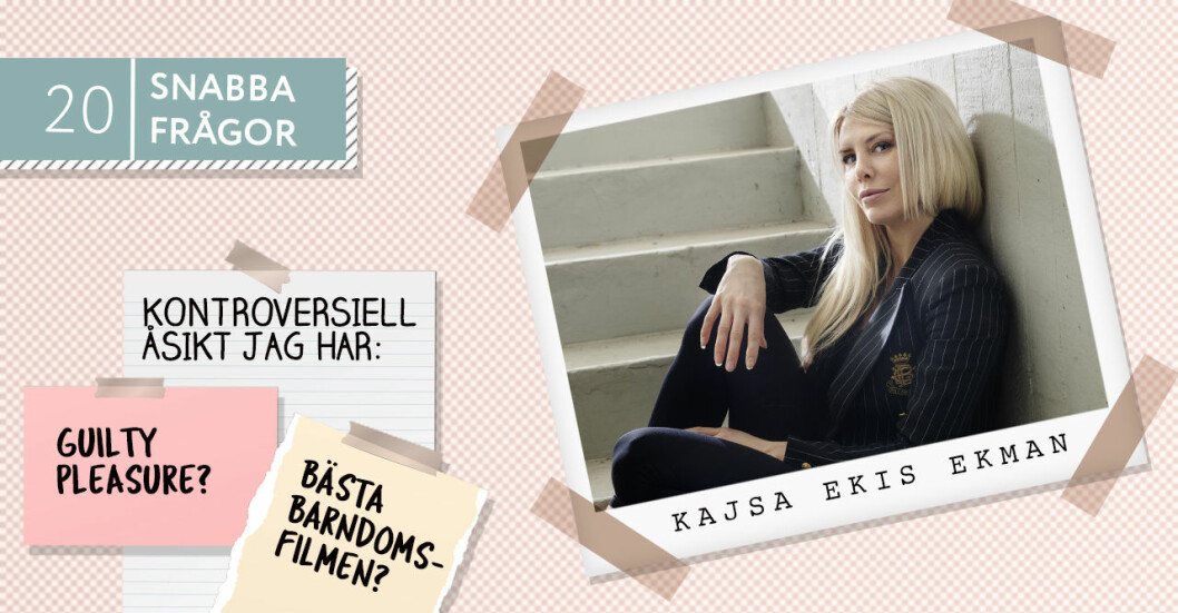 20 snabba frågor på Baaam med Kajsa Ekis Ekman