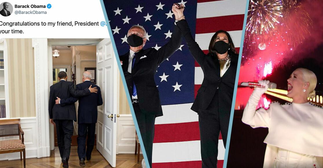 Obama och Katy Perry hyllar Biden och Harris