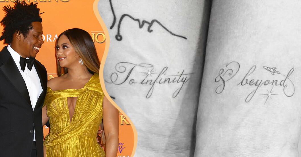 Beyoncé och Jay-Z samt Joe Jonas och Sophie Turners tatuering