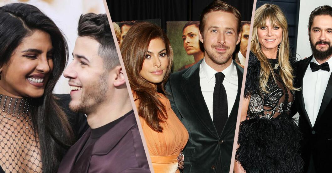 Priyanka Chopra/Nick Jonas, Eva Mendes/Ryan Gosling och Heidi Klum och Tom Kaulitz