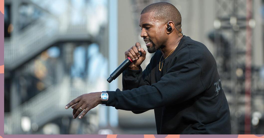 Kanye West har tagit in på Mercedes-Benz stadium.