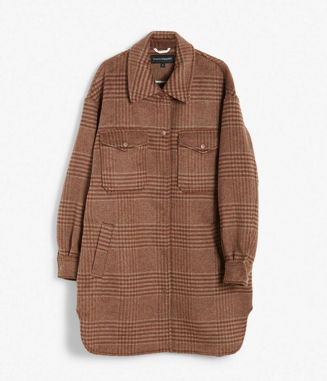 Brun skjortjacka från KappAhl