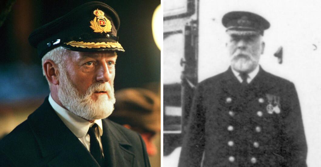 Kapten Edward Smith och Bernard Hill