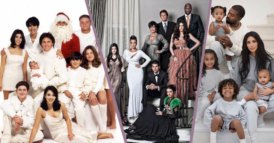 familjen kardashians julkort