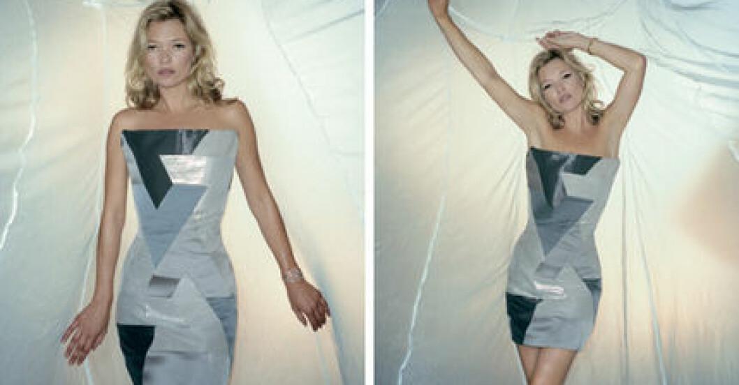 Kate Moss modellar för Sport Relief.