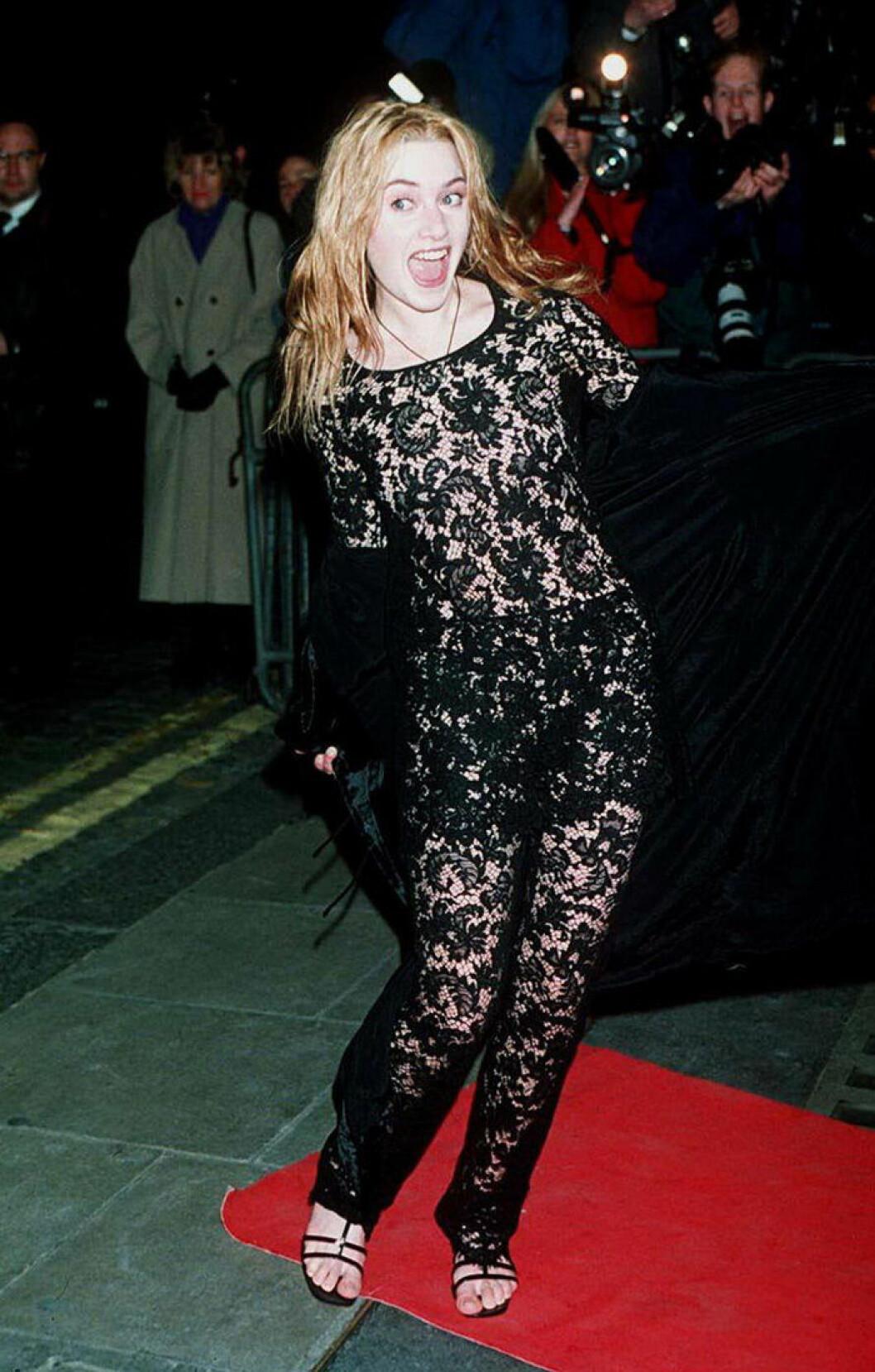 En bild på skådespelerskan Kate Winslet 1996.