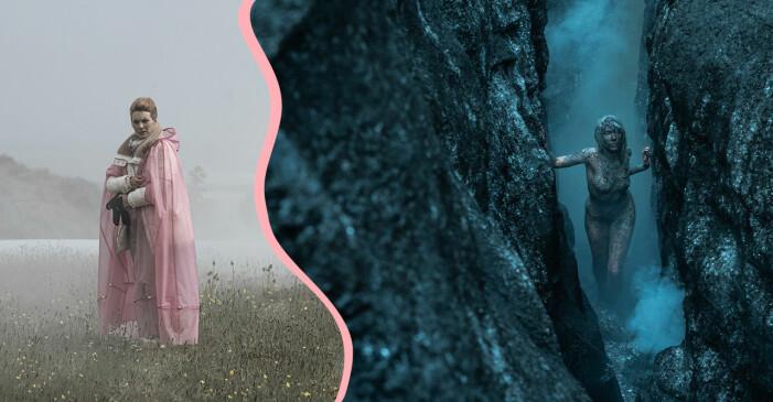 Isländska serien Katla på Netflix med Aliette Opheim och Valter Skarsgård.