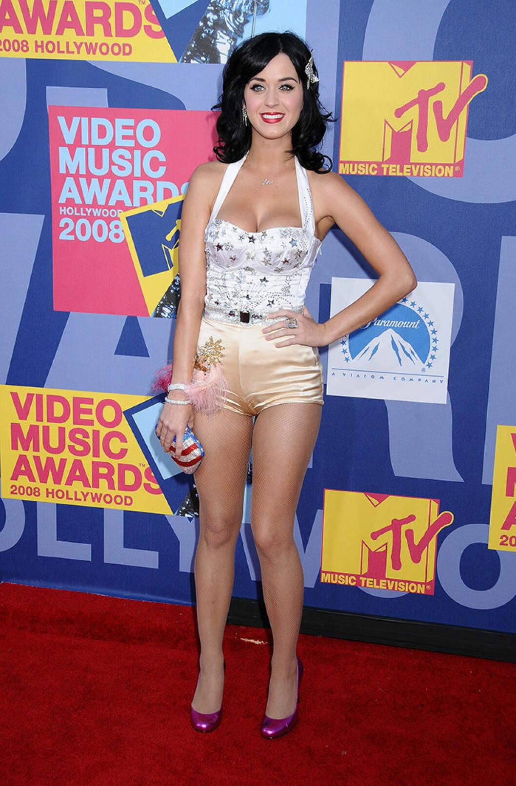 En bild på sångerskan Katy Perry under MTV Video Music Awards 2008.