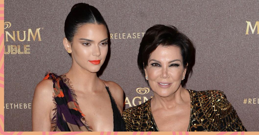 Kris Jenner tycktes gratulera Kendall Jenner till graviditeten.
