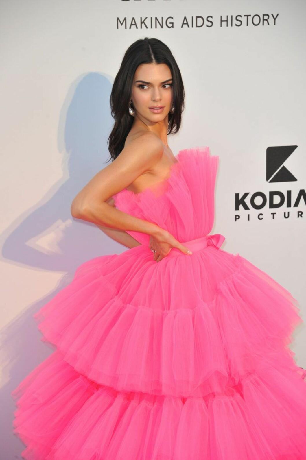 En bild från amfAR-galan i Cannes, där Kendall Jenner bar en klänning från H&M:s designsamarbete med Giambattista Valli.