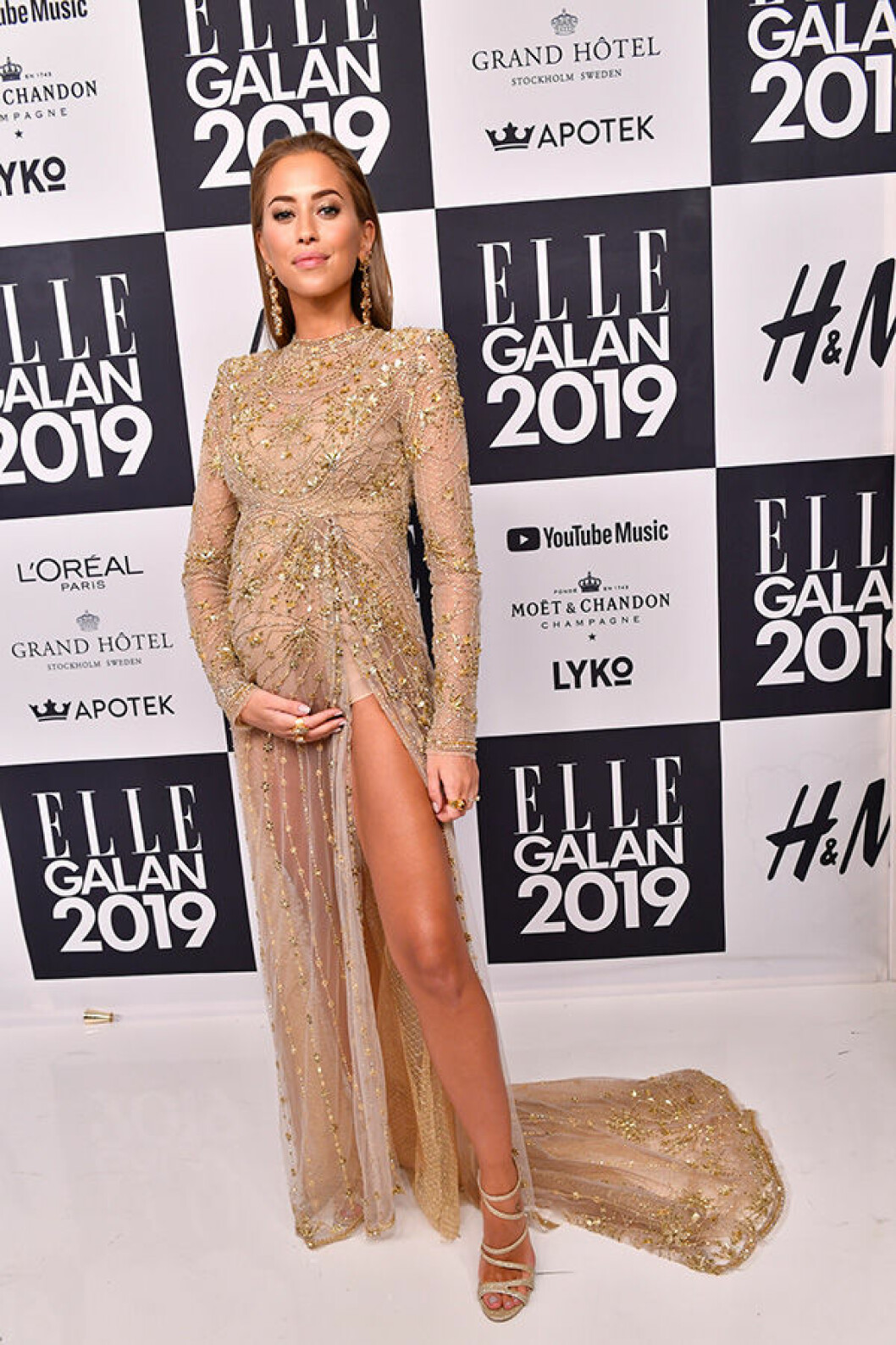 En bild på Kenza Zouiten under ELLE-galan 2019.