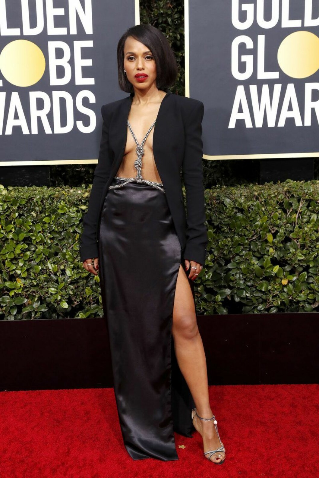 Kerry Washington på Golden Globes.