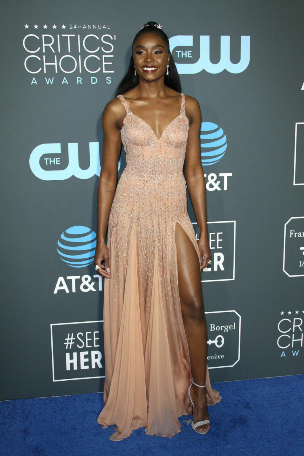 Kiki Layne på röda mattan på Critics Choice Awards 2019