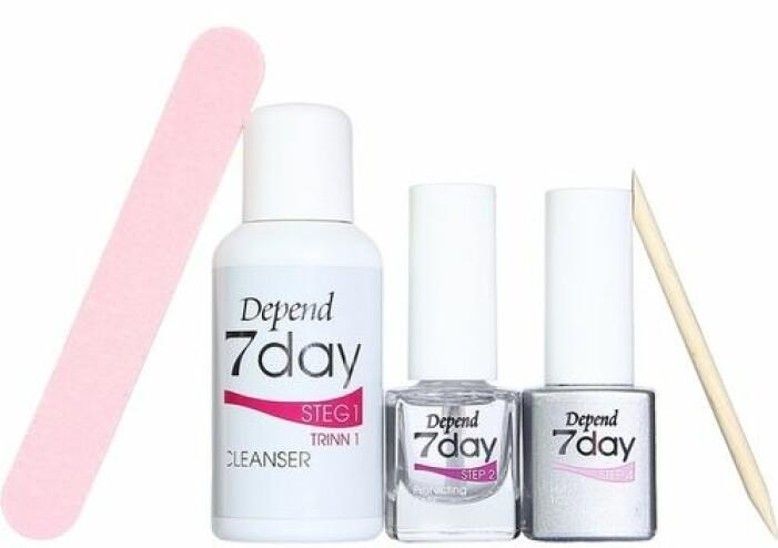 Gellack kit för att använda hemma Depend 7day Starter Kit