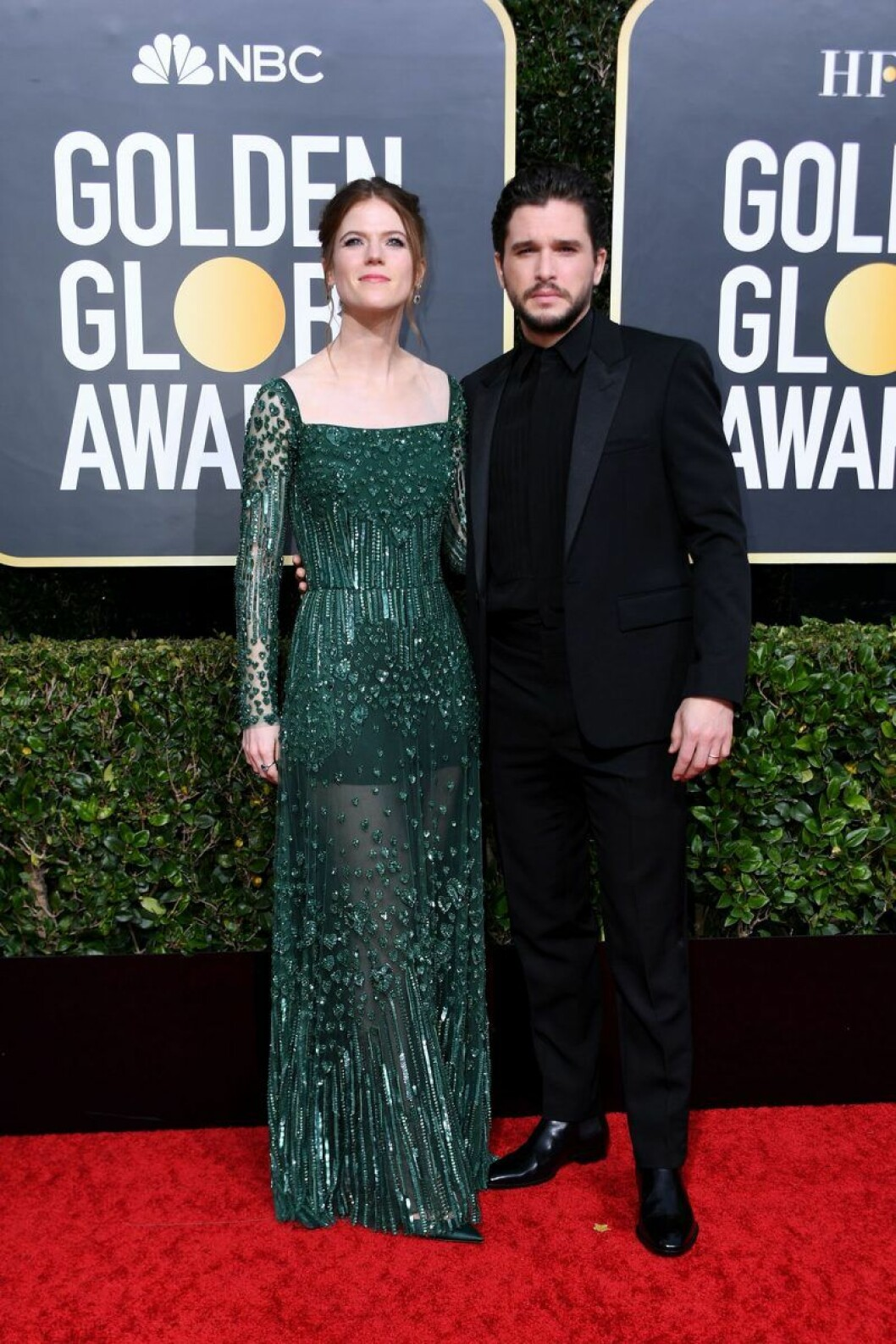Kit Harington och Rose Leslie på Golden Globes.