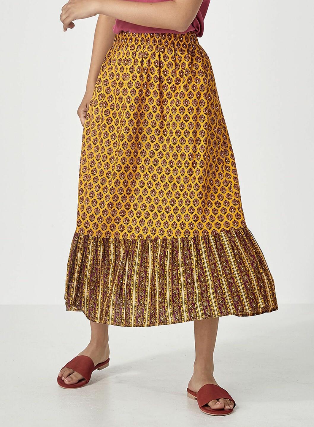 Gul kjol till hösten